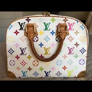 Louis Vuitton Bags - Louis Vuitton White Monogram Multicolor Handbag